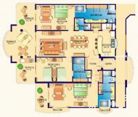 3 Bedroom Villa 3102 floorplan