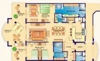 2BR/3bath Villa 1406 floorplan