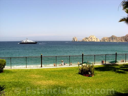 The ocean views from the outdoor Terrace of Unit #1101 of Villa La Estancia Cabo.