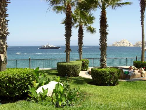 The view of beaches and Lands End outside of Unit #1101 of Villa La Estancia Cabo.
