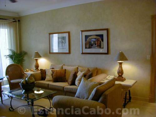 Living room in  #1303 Villa La Estancia Cabo