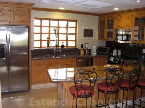 Gourmet kitchen in unit #1101 of Villa La Estancia Cabo.