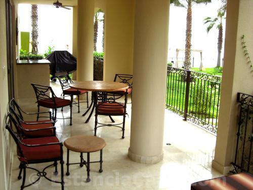 Terrace of unit #1101 of Villa La Estancia Cabo.