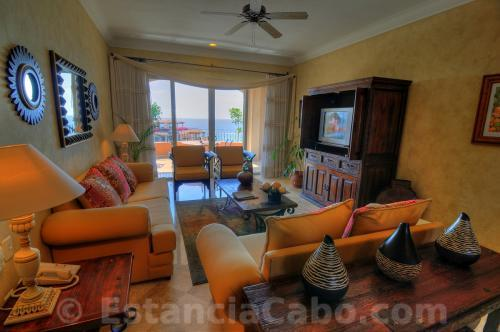 Villa 3607 Living Room With Ocean View