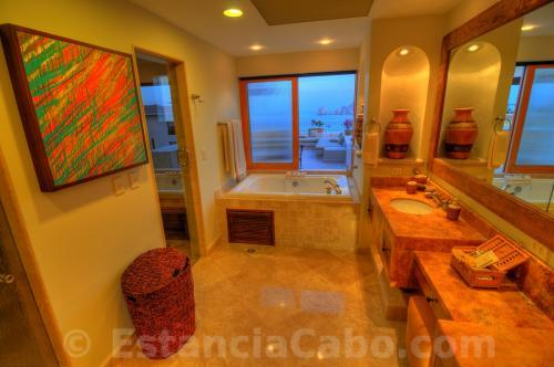 Villa La Estancia Penthouse 2804 Master Bathroom With View